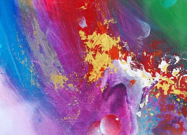 Красочная абстрактная картина маслом Premium Фотографии