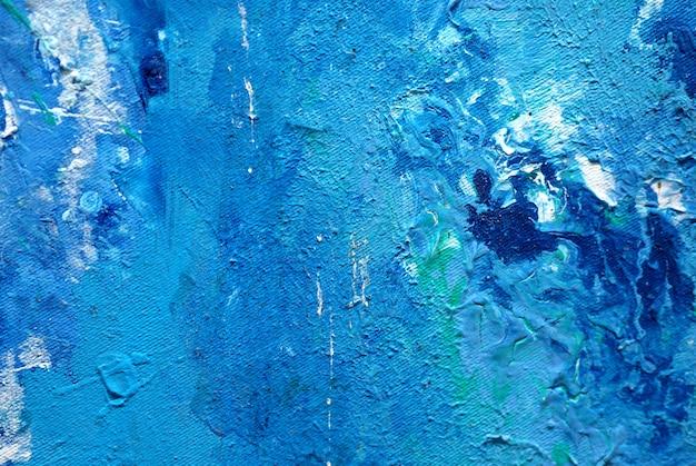 青い絵画の自然な抽象的な背景とテクスチャー。 Premium写真