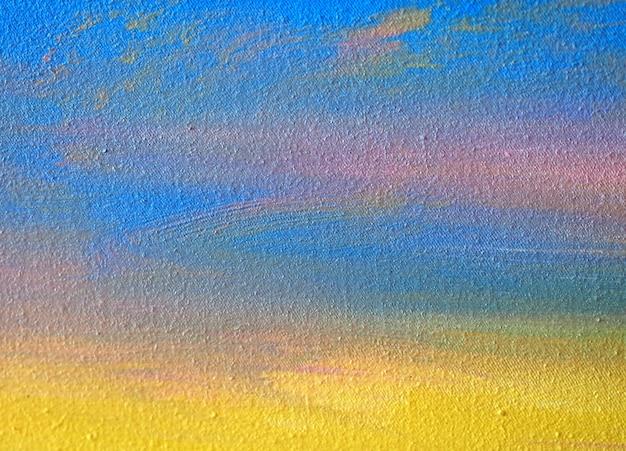 テクスチャと紙の抽象的な背景の水彩画 Premium写真