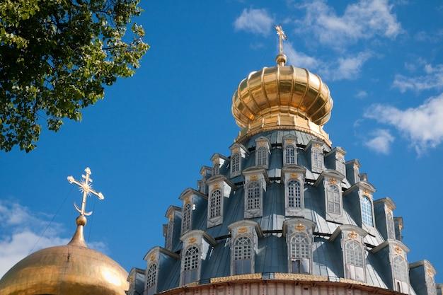 ロシアの偉大な修道院。イストラ新エルサレム修道院。 Premium写真