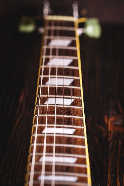 音楽ギターのクローズアップ Premium写真