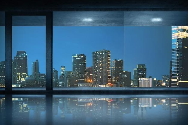 街の景色を望む空の事務室 Premium写真