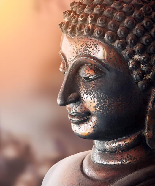 Бронзовая статуя старого будды Premium Фотографии