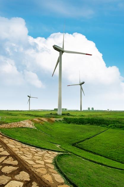 エコパワー、風力タービン Premium写真