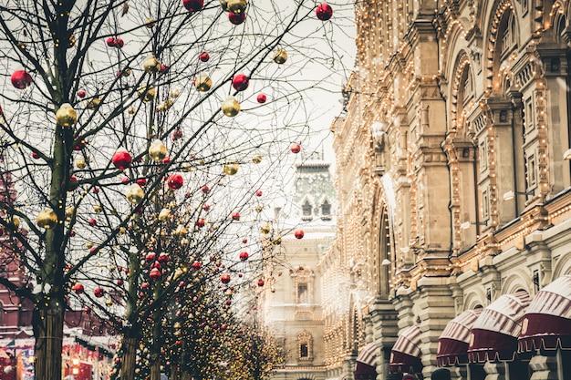 Новый год на красной площади в москве Premium Фотографии