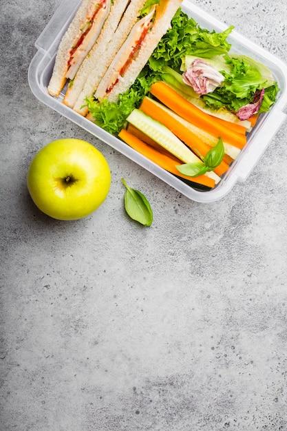 健康食品のお弁当 Premium写真