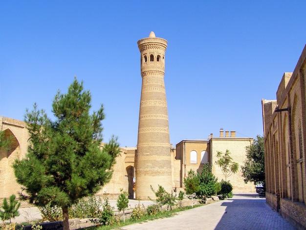 ブハラのポイ・カリヤン・モスク複合施設のカリヤン・ミナレット Premium写真
