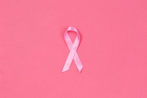 ピンクのリボン。乳がんの概念 Premium写真