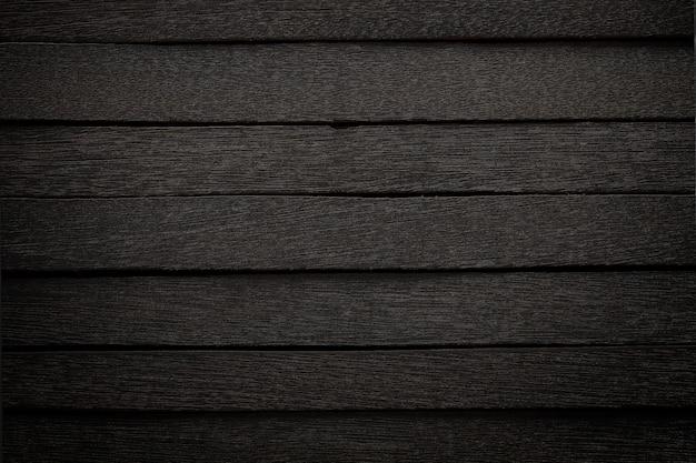 背景の暗いスタイルの黒い木のパネル。 Premium写真