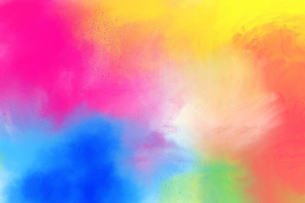 塗られた虹のブラシストローク Premium写真