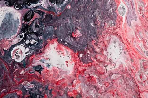 Абстрактная красная и черная современная предпосылка художественного произведения. Premium Фотографии