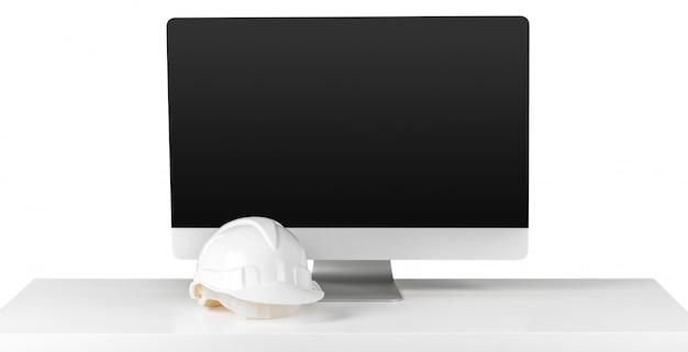 職場の建築家とコンピューター Premium写真