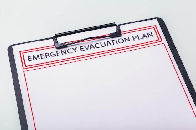 План аварийной эвакуации Premium Фотографии