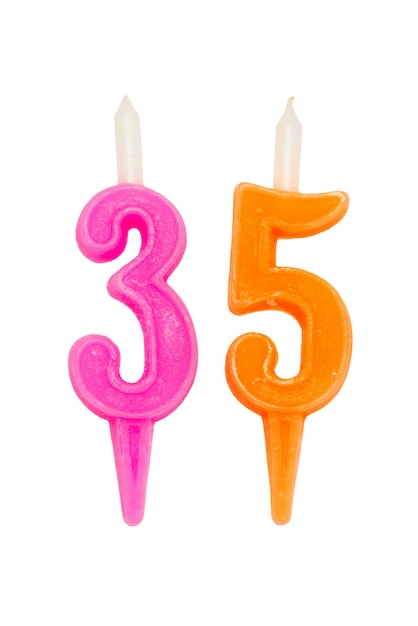 誕生日の蝋燭番号 Premium写真