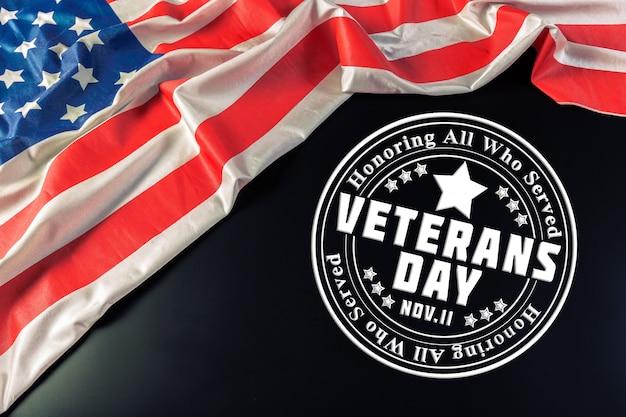 退役軍人の日フラグの合成 Premium写真