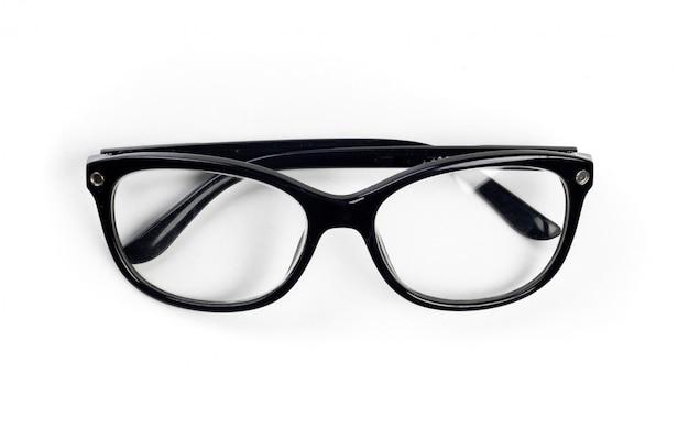眼鏡。白で隔離 Premium写真