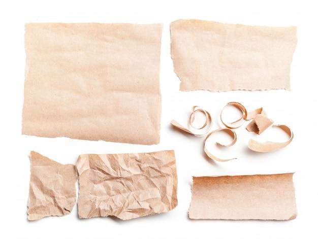 白の再生紙 Premium写真