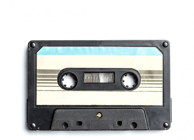 Винтажная кассета, изолированная на белом Premium Фотографии