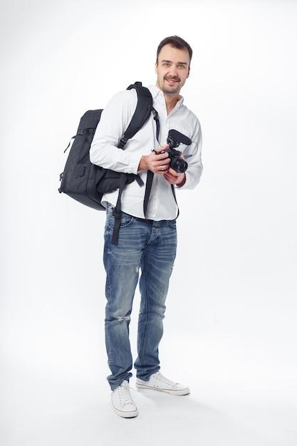 若い男の写真家 Premium写真