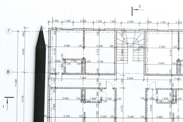 建築家は、トップビューを悪化させます。 Premium写真