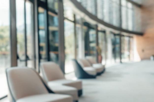 ぼやけたオフィスのインテリアスペース Premium写真
