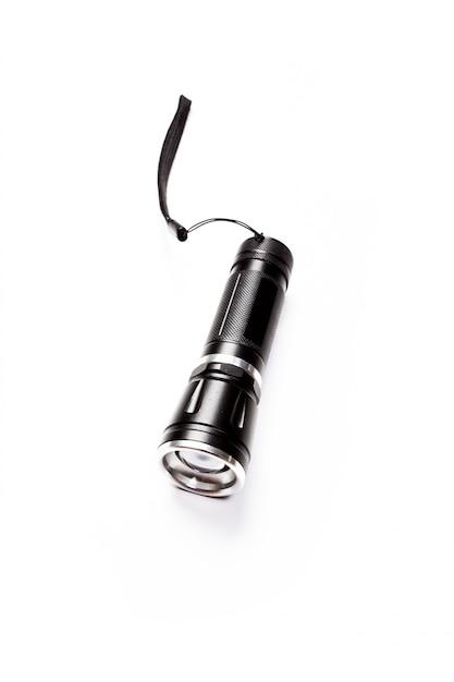懐中電灯、白で隔離されます。 Premium写真