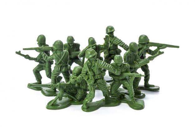 伝統的なおもちゃの兵隊のコレクション Premium写真