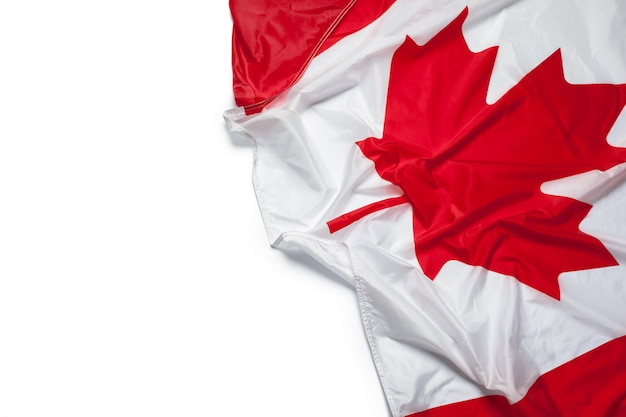 カナダの旗を振る Premium写真