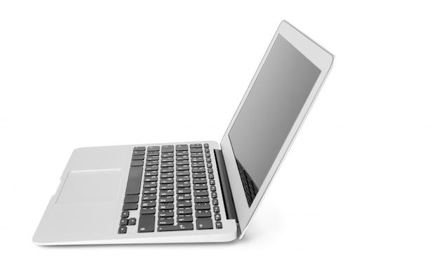 白で隔離のラップトップ Premium写真