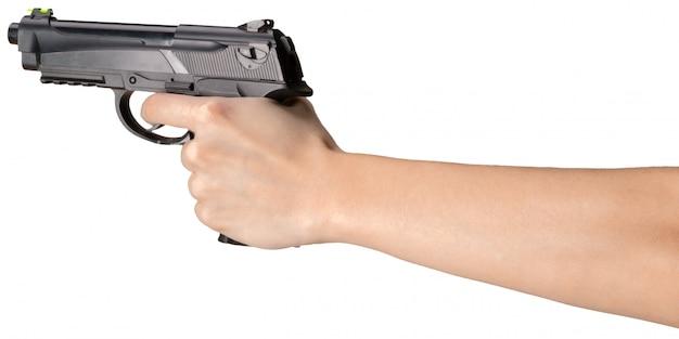 分離された拳銃 Premium写真