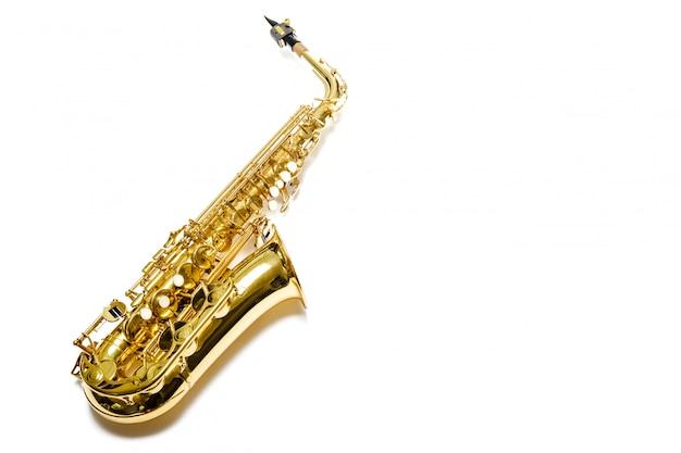 分離されたサックスジャズ楽器 Premium写真
