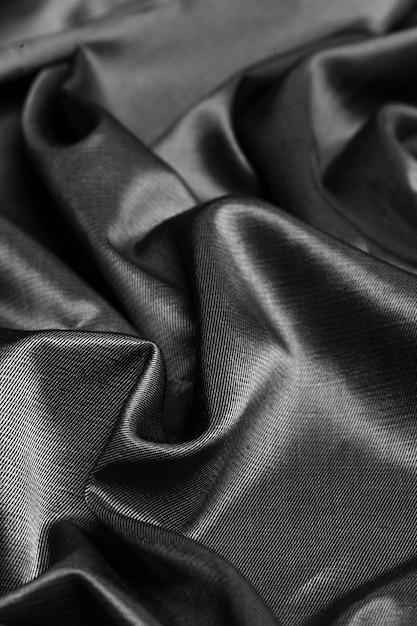 Черная шелковая ткань Premium Фотографии