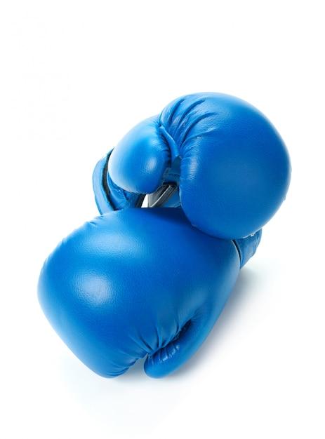 ボクシンググローブは白にクローズアップ Premium写真