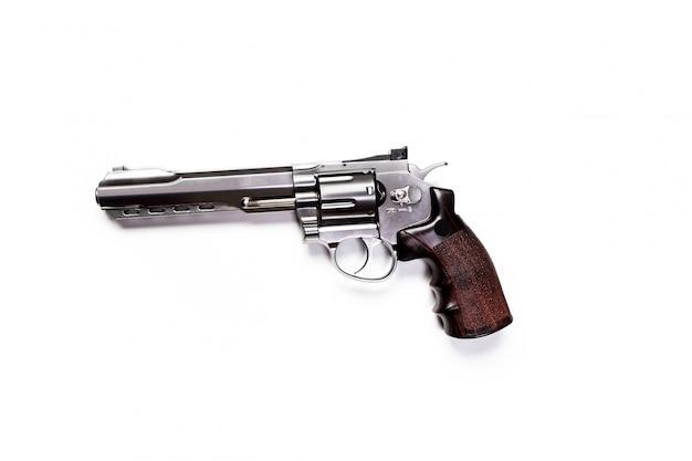 白い背景で隔離の手銃 Premium写真