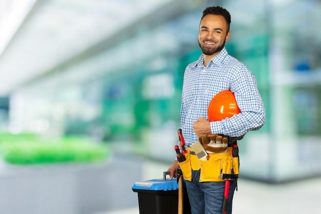 建設現場の建設労働者 Premium写真