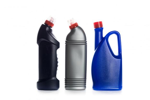 白の家のためのクリーニング製品プラスチック容器 Premium写真