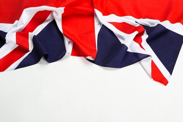 ユニオンジャックの旗のクローズアップ Premium写真