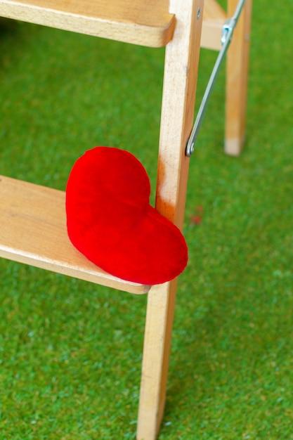 Красное сердце Premium Фотографии