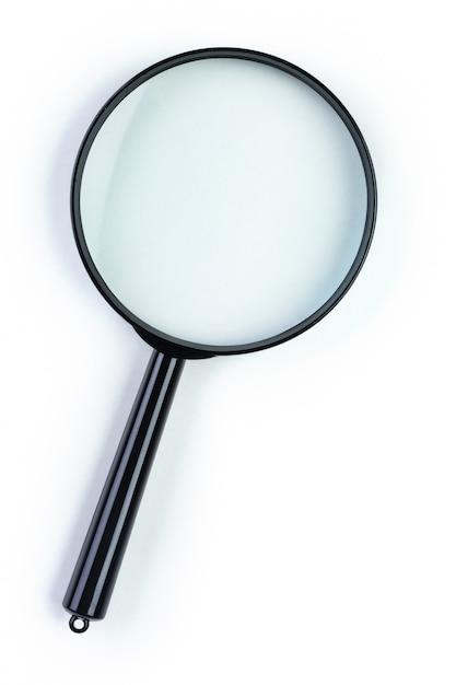 白で隔離される虫眼鏡 Premium写真