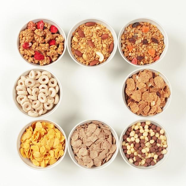 健康的な食事の朝食の材料 Premium写真
