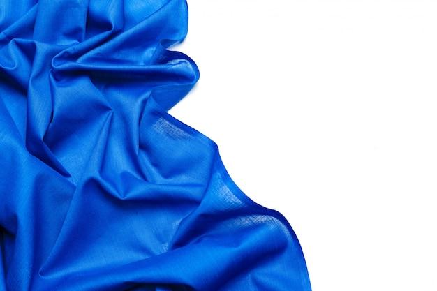 Синий шелковый фон ткани Premium Фотографии
