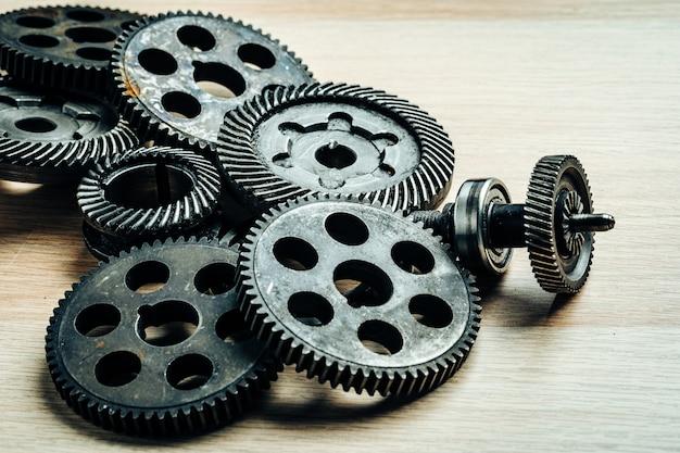 古い産業機械の歯車 Premium写真