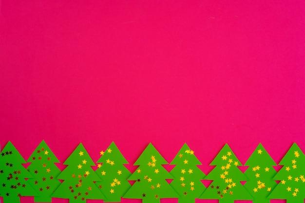 クリスマスの休日の装飾パターンとピンク Premium写真