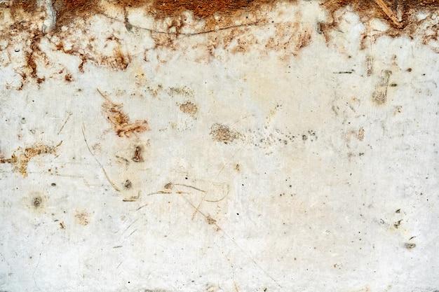 Грязный старый ржавый гранж белый металлический фон Premium Фотографии