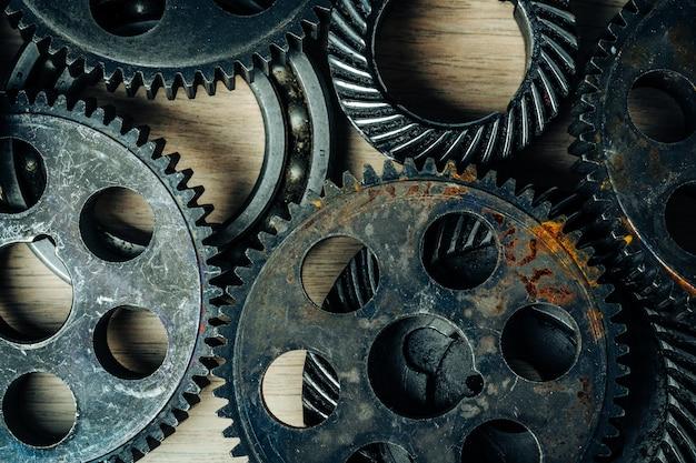 Механизмы от старой промышленной машины Premium Фотографии