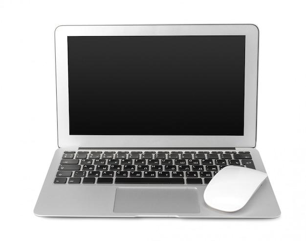 白で隔離されるラップトップ Premium写真