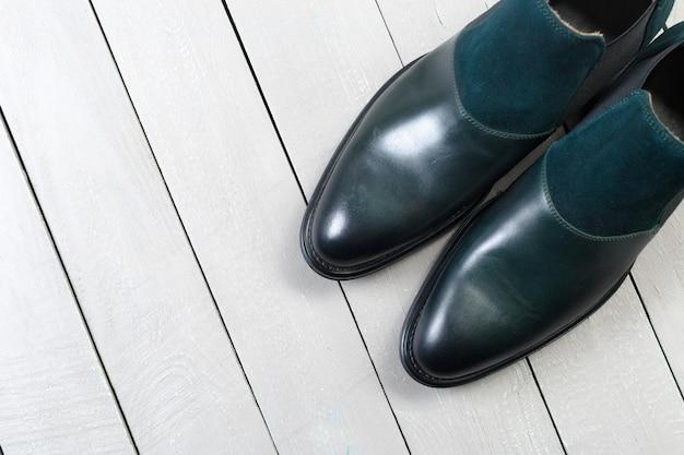 Кожаная мужская обувь Premium Фотографии