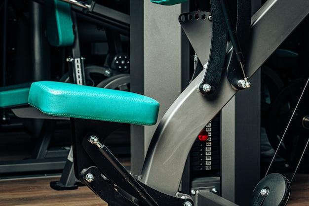 新しいジム機器の写真をクローズアップ Premium写真