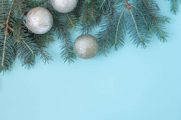 クリスマスや冬の組成。雪と赤い果実の製フレーム Premium写真