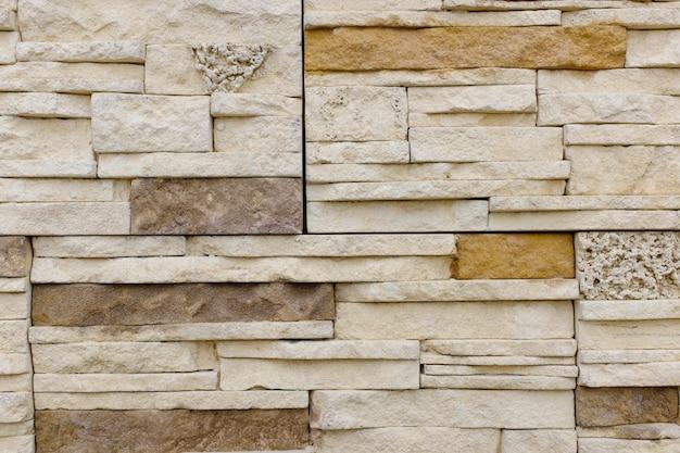 古い茶色のレンガ壁パターンレンガの壁のテクスチャまたはインテリアのレンガの壁の光。 Premium写真